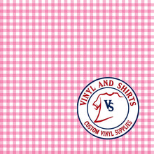 Load image into Gallery viewer, Magenta Gingham Plaid Vinyl / Printed 651 Vinyl / Printed Vinyl /Printed Outdoor Vinyl / Printed HTV/Printed Heat Transfer Vinyl