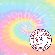 Load image into Gallery viewer, Pastel Tie Dye Patterned Vinyl / Printed 651 Vinyl / Printed Vinyl /Printed Outdoor Vinyl / Printed HTV/Printed Heat Transfer Vinyl