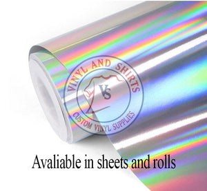 Oil Slick adhesive Vinyl / Holographic Vinyl indoor / outdoor / Rainbow Chrome Oilslick