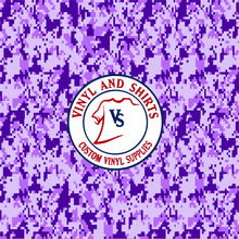 Load image into Gallery viewer, Purple Digital Camo Patterned Vinyl / Printed 651 Vinyl /Pattern Vinyl /Printed Outdoor Vinyl / Pattern Heat Transfer Vinyl