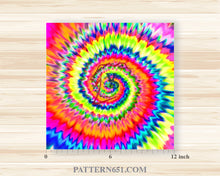 Load image into Gallery viewer, Tie Dye 1 Patterned Vinyl / Printed 651 Vinyl / Printed Vinyl /Printed Outdoor Vinyl / Printed HTV/Printed Heat Transfer Vinyl