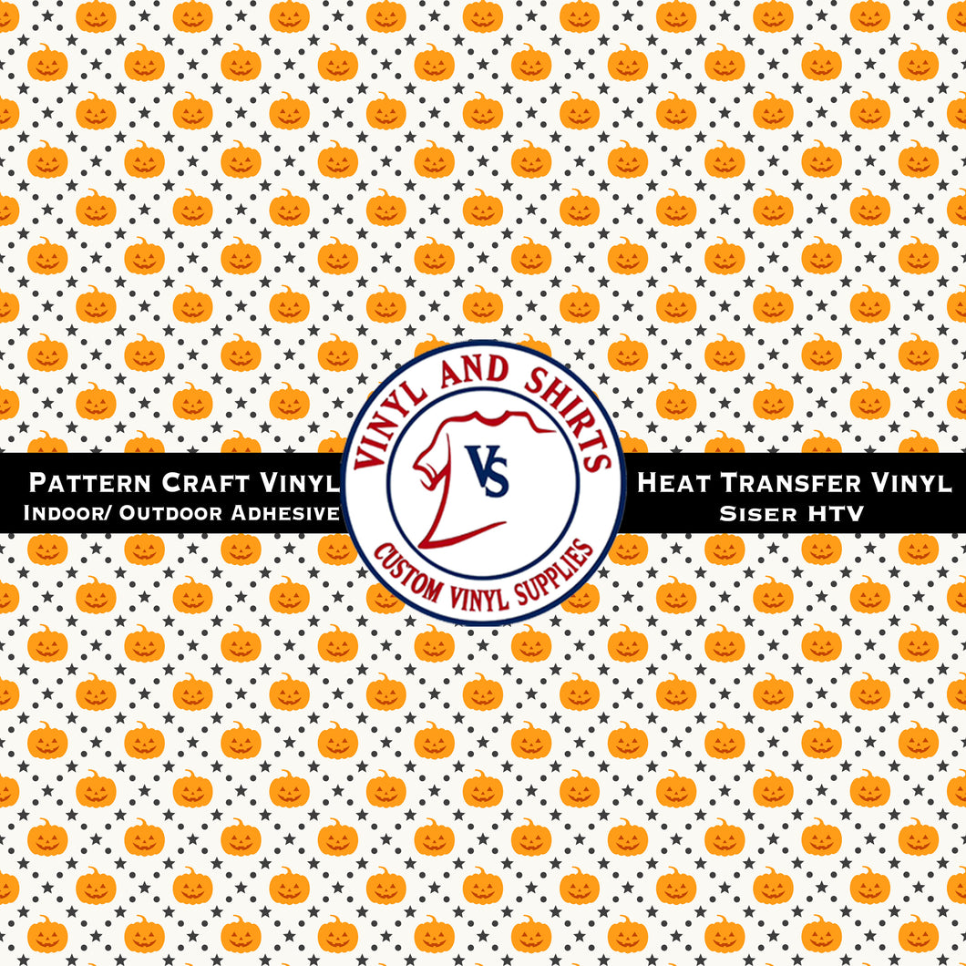 Halloween Pumpkin Patterned Vinyl / Fall Plaid/ Printed Vinyl /Printed Outdoor Vinyl / Printed HTV/Printed Heat Transfer Vinyl
