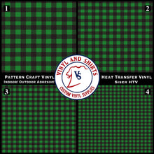 Load image into Gallery viewer, Green Plaid Patterned Vinyl / Printed 651 Vinyl / Printed Vinyl /Printed Outdoor Vinyl / Printed HTV/Printed Heat Transfer Vinyl