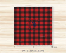 Load image into Gallery viewer, Red and Black Buffalo Plaid  Vinyl / Printed 651 Vinyl / Printed Vinyl /Printed Outdoor Vinyl / Printed HTV/Printed Heat Transfer Vinyl