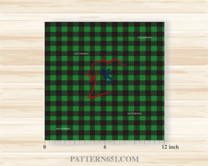 Green Plaid Patterned Vinyl / Printed 651 Vinyl / Printed Vinyl /Printed Outdoor Vinyl / Printed HTV/Printed Heat Transfer Vinyl