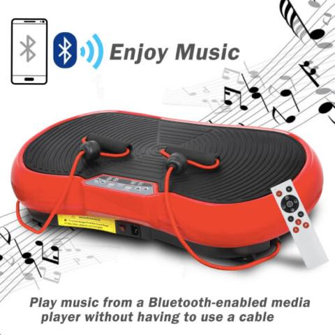 VIBRATION PLATE MACHINE WITH BLUETOOTH PLAYER - LOOSE WEIGHT WITH EASE