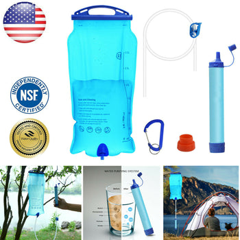 GRAB THIS POTABLE 3 STAGE GRAVITY WATER FILTER - 3L STORAGE CAPACITY WITH 7 GALLONS PER HOUR FILTRATION