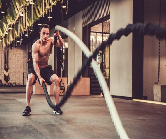 "Great Value - Workout Battle Rope (1.5"" and 2"" available), Build Your Strength, Resilience & Get A Great Cardiovascular Workout"