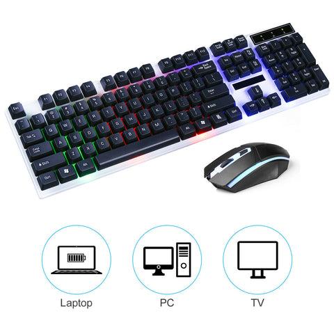 RGB Gaming Keyboard and Mouse Black