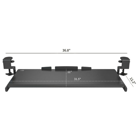 360 Clamp-on Sliding Keyboard Tray