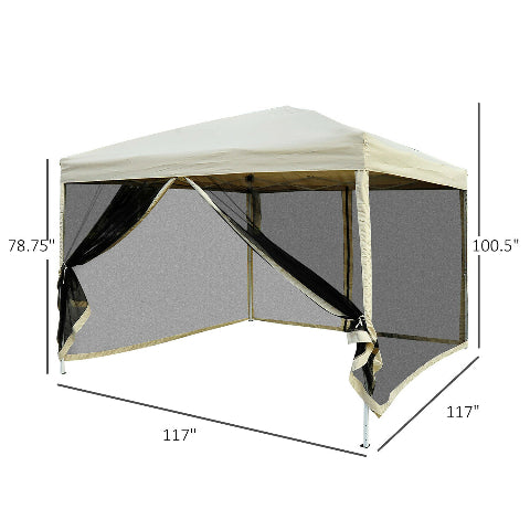 OUTDOOR PARTY GAZEBO 10 x 10 TENT
