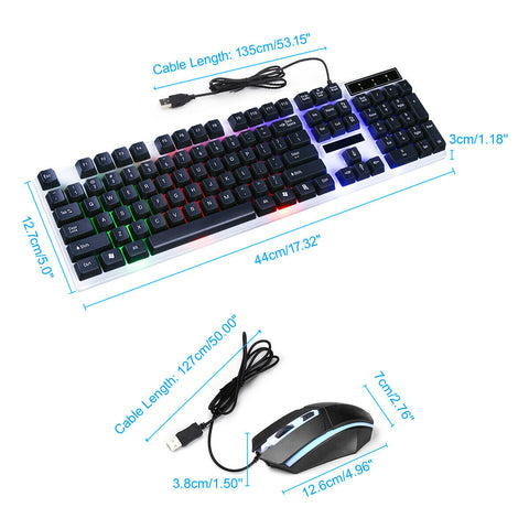 Waterproof RGB Gaming Keyboard and Mouse