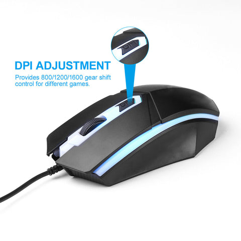 Ergonomic RGB Gaming Keyboard and Mouse
