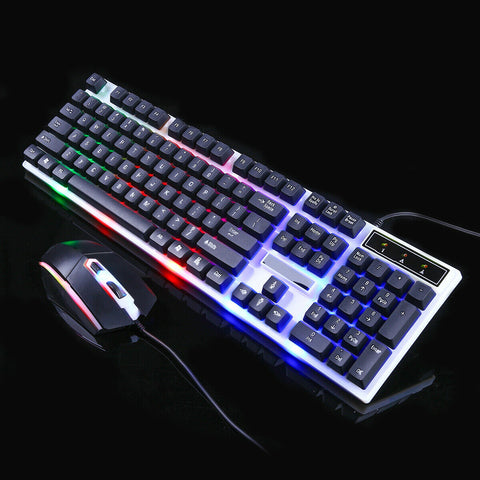 Waterproof Ergonomic Gaming Keyboard and Mouse