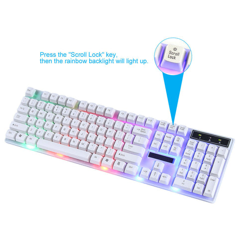Waterproof Ergonomic RGB Gaming Keyboard