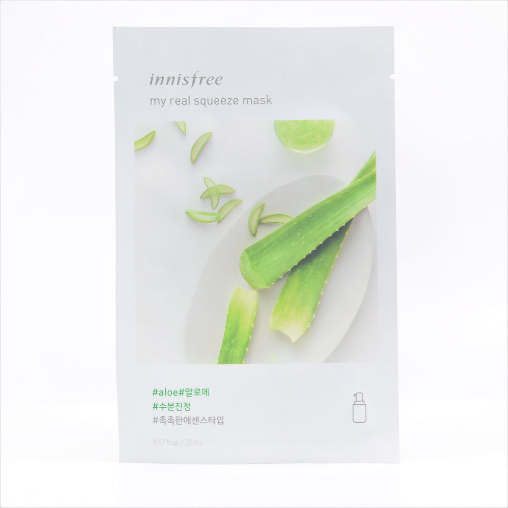 INNISFREE My real squeeze mask Aloe - Misumi Cosmetics Nepal