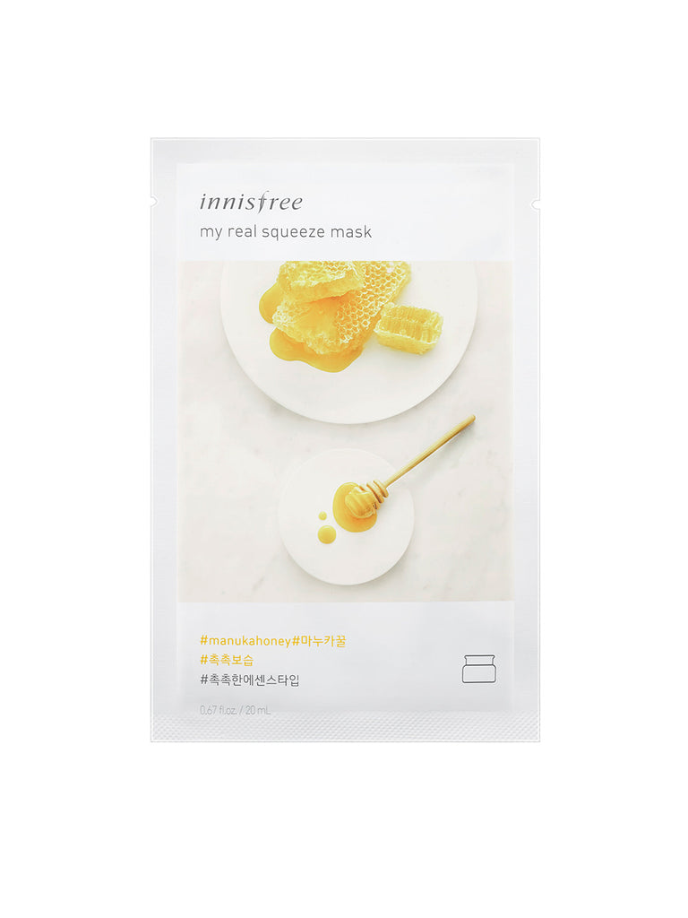 INNISFREE My real squeeze mask Manuka Honey - Misumi Cosmetics Nepal