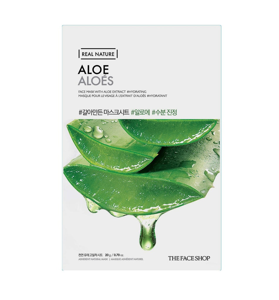 THE FACESHOP Real Nature Face Mask Aloe - Misumi Cosmetics Nepal