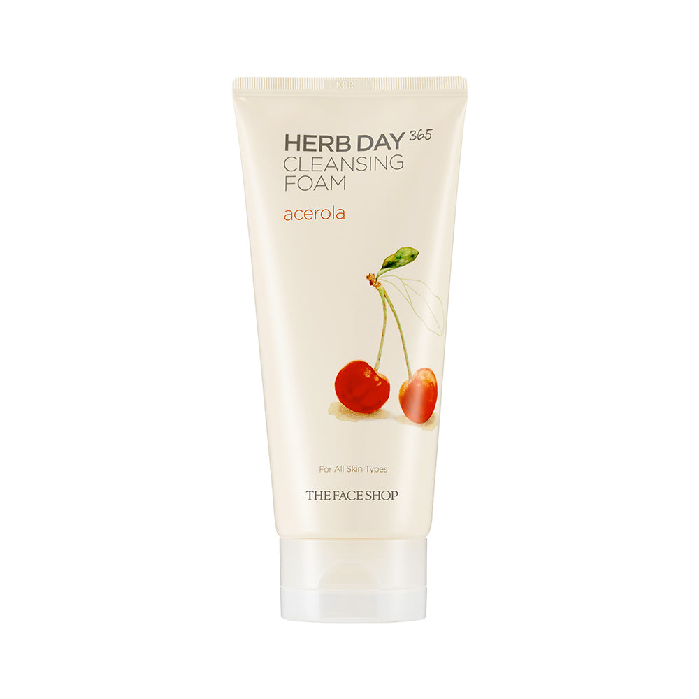 THE FACESHOP Herb Day 365 Cleansing Foam Acerola - Misumi Cosmetics Nepal