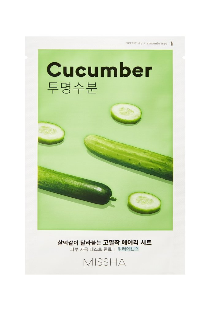 MISSHA Airy Fit Sheet Mask Cucumber - Misumi Cosmetics Nepal