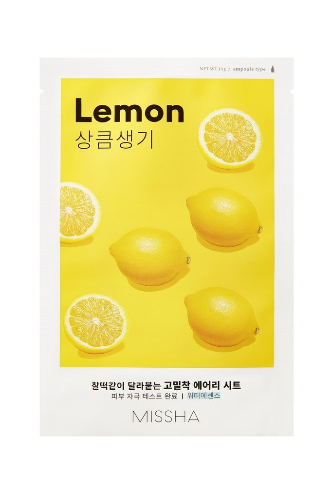 MISSHA Airy Fit Sheet Mask Lemon - Misumi Cosmetics Nepal