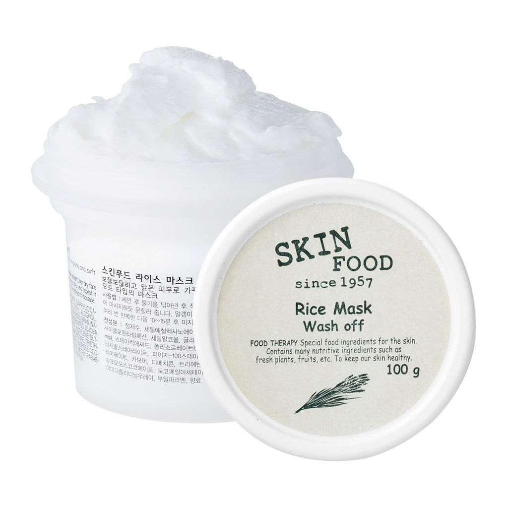 SKINFOOD Rice Mask Wash Off - Misumi Cosmetics Nepal