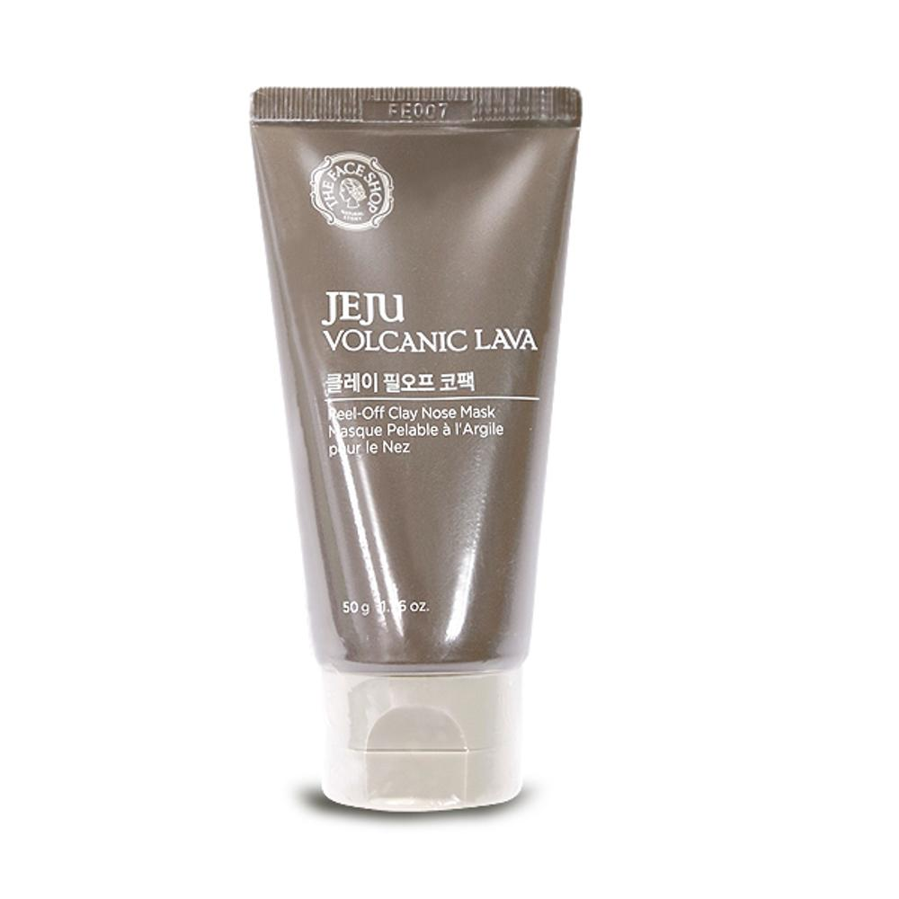 THE FACESHOP Jeju Volcanic Lava Peel-Off Clay Nose Mask - Misumi Cosmetics Nepal