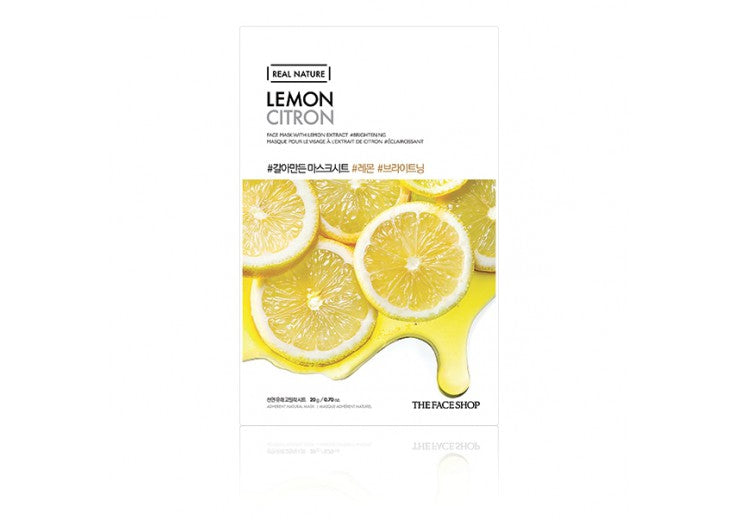 THE FACESHOP Real Nature Face Mask Lemon - Misumi Cosmetics Nepal