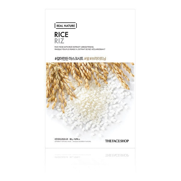THE FACESHOP Real Nature Face Mask Rice - Misumi Cosmetics Nepal