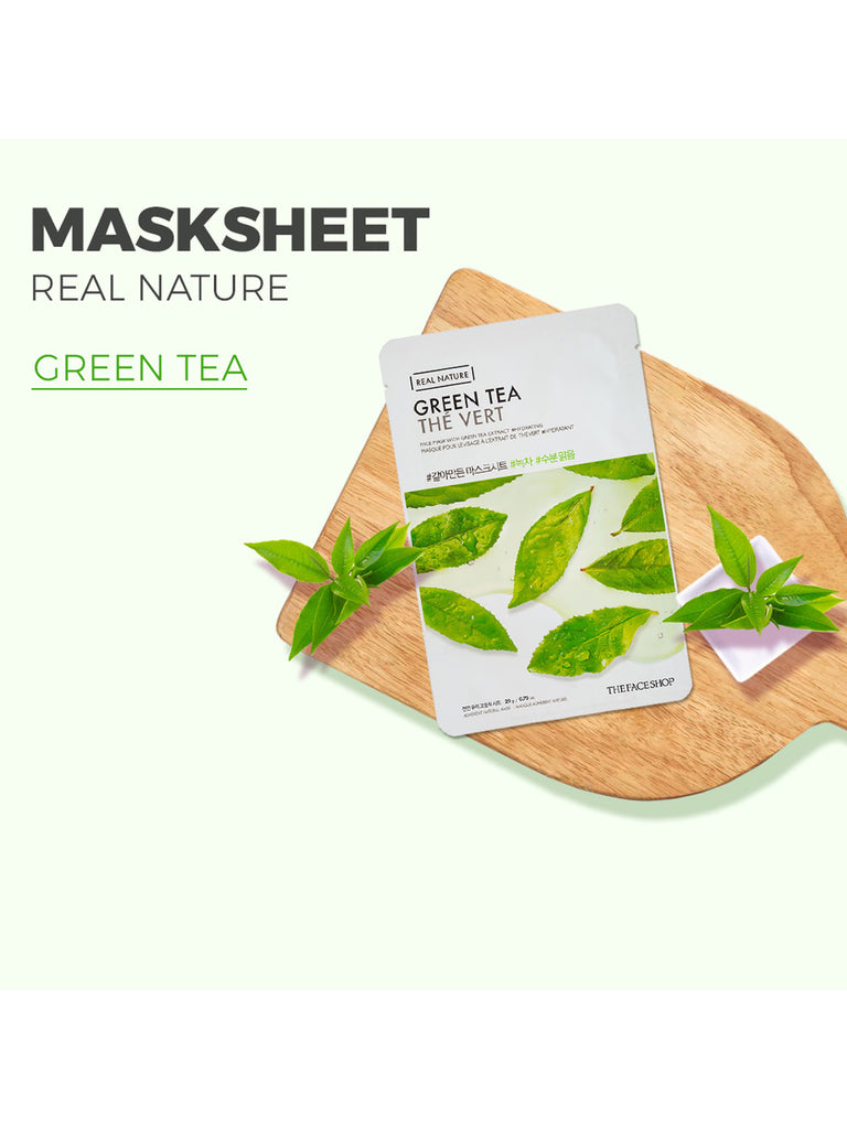 THE FACESHOP Real Nature Face Mask Green Tea - Misumi Cosmetics Nepal