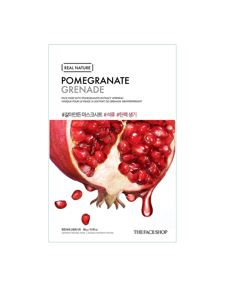 THE FACESHOP Real Nature Face Mask Pomegranate - Misumi Cosmetics Nepal