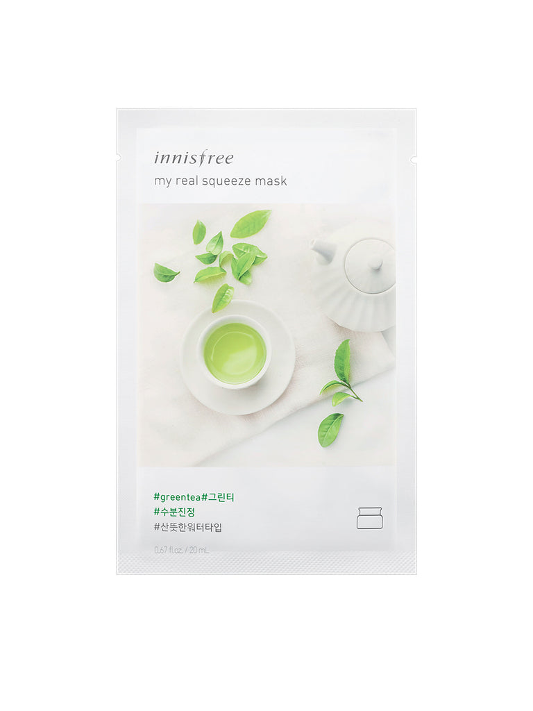 INNISFREE My real squeeze mask Green Tea - Misumi Cosmetics Nepal