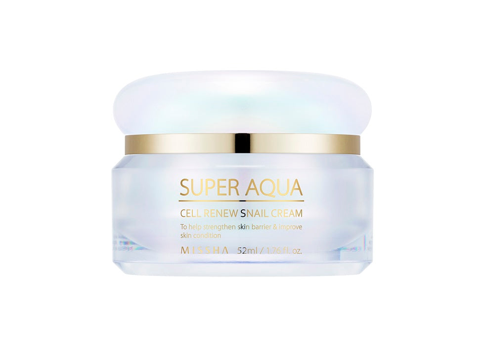 MISSHA Super Aqua Cell Renew Snail Cream 52ml - Misumi Cosmetics Nepal