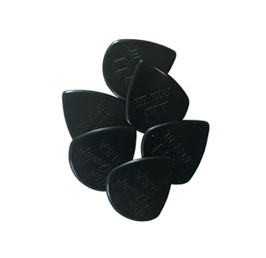 Dunlop Guitar Picks  6 Pack  Nylon Jazz III  Black Stiffo 1.38 Sharp 47P3S
