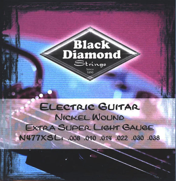 Black Diamond Guitar Strings Electric Super Light 008-038