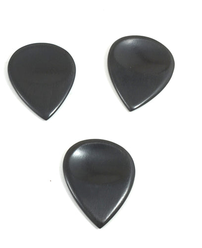 John Pearse Guitar Picks Sarod 3-Pack - Ebony - Black - 2.5mm.