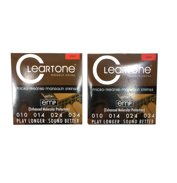Cleartone Mandolin Strings 2 Pack EMP Coated Light .010-.034.