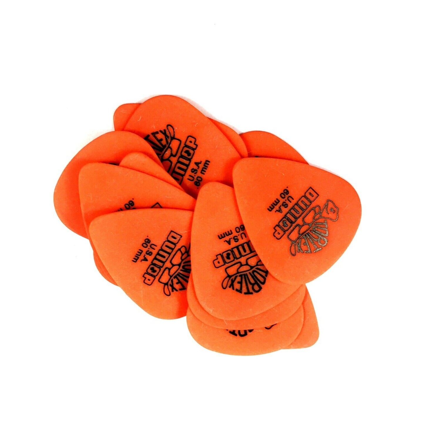 Dunlop Guitar Picks  Tortex   12 Pack  .60mm  Light  Orange  (418.P60).