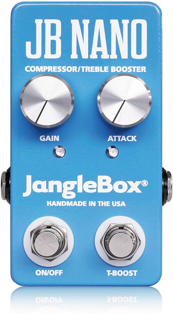 JangleBox Compressor Treble Booster Nano Guitar Effect Pedal Squish.