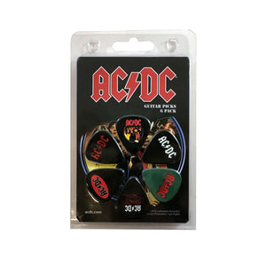 AC/DC Guitar Picks 6 Picks Albums Set 1