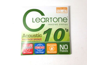Cleartone Guitar Strings Acoustic Phosphor Bronze  10-47  Super long life.