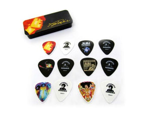 Jimi Hendrix Guitar Picks  Collectible Tin  Electric Ladyland 12 Picks.