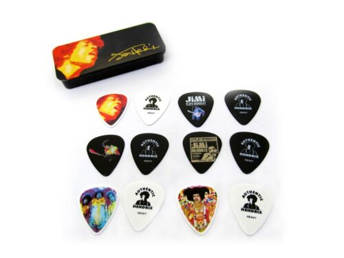 Jimi Hendrix Guitar Picks  Collectible Tin  Electric Ladyland 12 Picks
