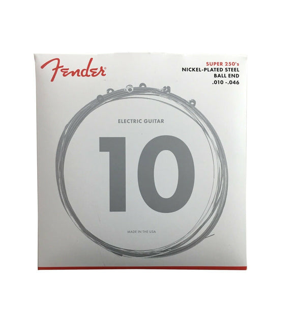 Fender Guitar Strings  Electric  Super 250  Nickel Plated Steel 10-46
