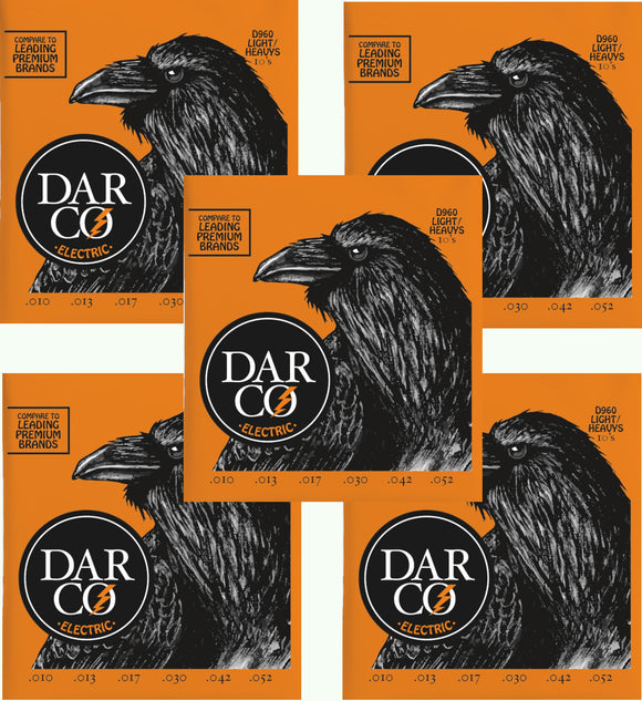 Darco Martin Guitar Strings 5-Packs Electric Light Heavy 10-52 D960