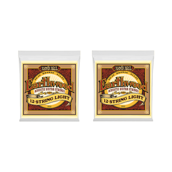 Ernie Ball Guitar Strings 2-Packs 12-String Acoustic Earthwood Light 2010