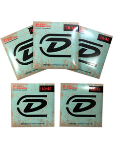 Dunlop Guitar Strings - 5 Sets 10-46 Billy Gibbons Electric  Formerly Reverand Willy