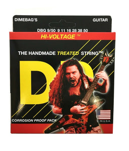 DR Guitar Strings Electric Dimebags Hi-Voltage 09-50
