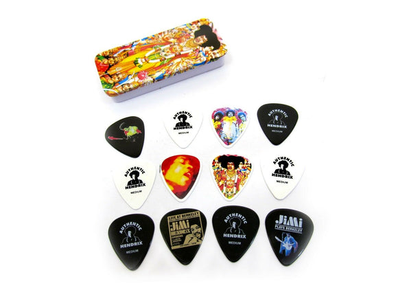 Jimi Hendrix Guitar Picks  Axis Bold As Love  Collectible Tin 12 Picks.