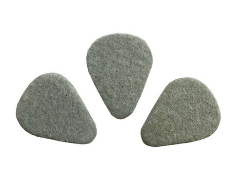 Dunlop Guitar Picks  3 Pack  Felt Pick  3.2mm  Bevelled.